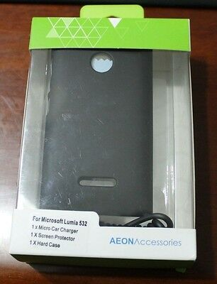 lumia 532  case, micro car charger and screen protector