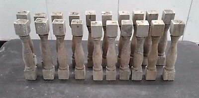 20 Balusters Antique Victorian Gingerbread Small Wooden Turned 8'
