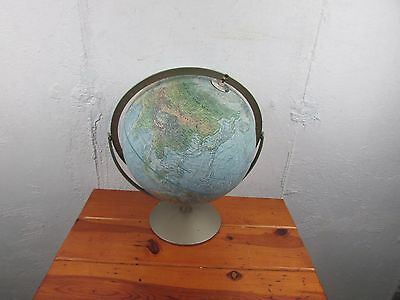 "Globe  Replogle  Vintage12 ""  Land and Sea World Globe Good Condition"