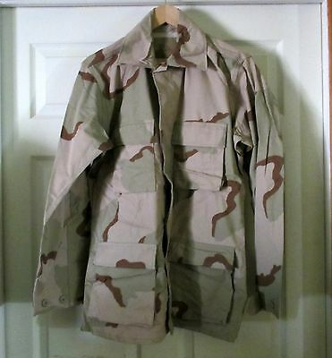 USGI Army Military Surplus Desert Camo DC BDU Shirt Jacket Coat Small Long NEW