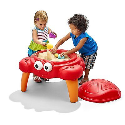 Crabbie Sand Table Kids Sandbox Outdoor Play Bench Fun Activity Cover Set, New
