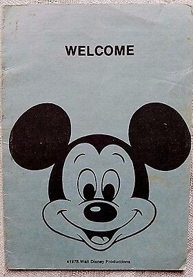 Rare 1978 Disney Wdw New Hire Cast Member Pocket Welcome Information Card
