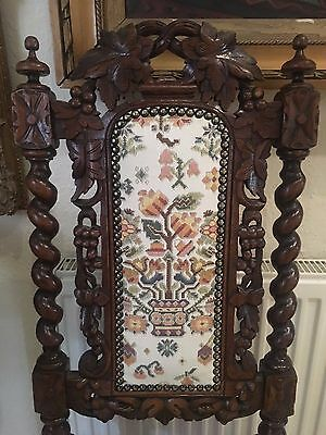 ANTIQUE (Poldark)  high back THRONE HALL CHAIR 19th Century Gothic OAK WOOD