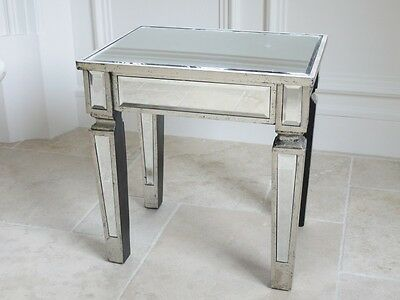 Pair Venetian mirror table side tables  / bedside table / lamp table, end tables