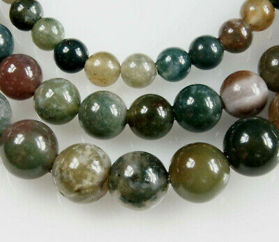 16'' Strand~Round~Natural~Indian Agate~Gemstone Beads~Choose Size