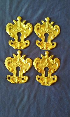 4 pieces  french bronze furniture bronze key hole