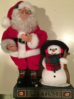 Santa and Snowman Musical 2001 Holiday Creations  Decoration