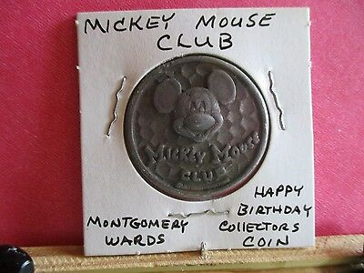 RARE 1970s Mickey Mouse Club & Montgomery Ward Happy Birthday Collector's Coin