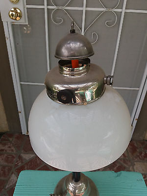 vintage original Coleman model R lamp shade - damaged