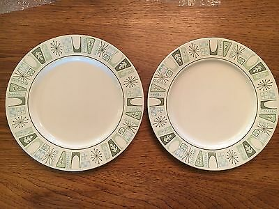 Two Taylorstone Cathay Mid-Century Modern Starburst Plates Oven Proof 240