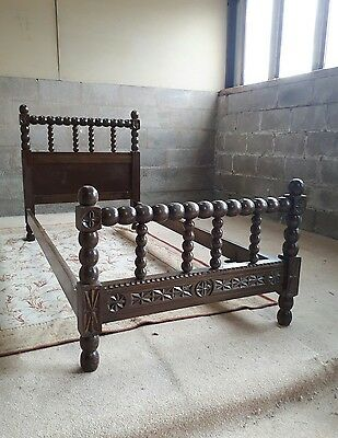 A Decorative Antique French Oak Single Bed