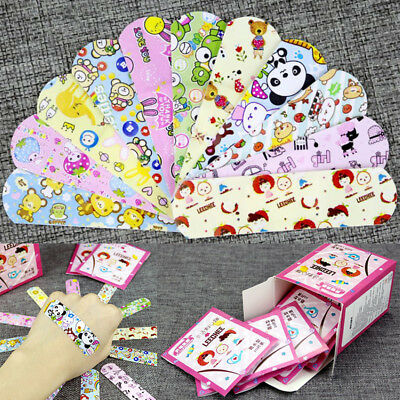 Cute Cartoon Adhesive Medical Band Aid Bandages Plaster Decal Sticker 100pcs/set