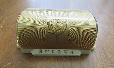 Antique Art Deco style Bulova  GENTS Watch Box Fifth Avenue New York- 4-5/8""