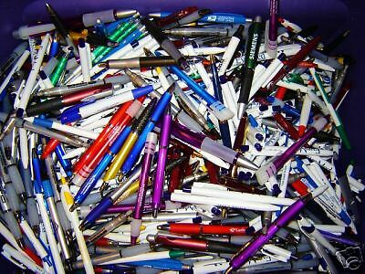 LOT OF 2000 NEW CLICK ballpoint PENS all blue ink with FREE SHIPPING