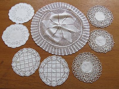 Antique Vintage Doilies Coasters Crocheted Doily Reticella Needlelace