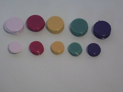 25 x 16mm & 25 x 22mm PLASTIC COUNTERS FIVE COLOURS - TIDDLY WINKS / BOARD GAMES