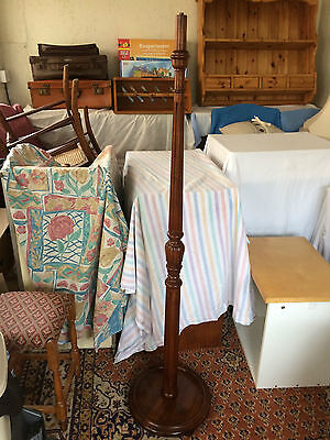 Vintage wooden standard lamp Edwardian lovely detailing  Local delivery possible