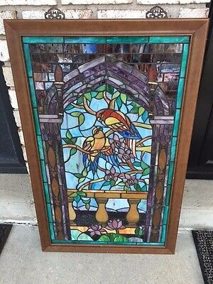 Beautiful Antique Old Stained Glass
