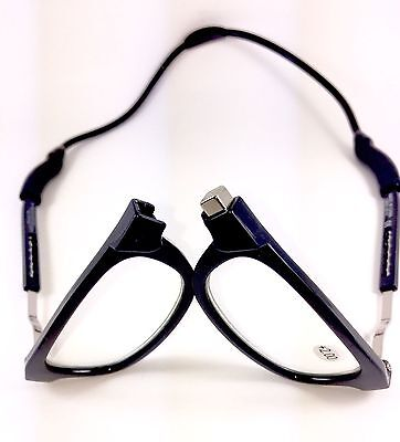 Loopies Magnetic Reading Glasses Black UVA Protection Scratch Resistant 50% Off