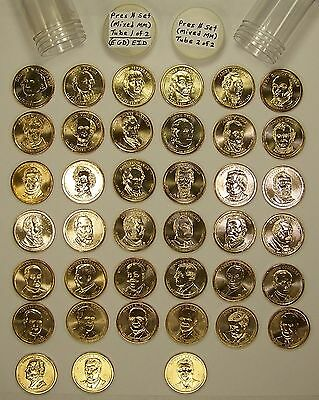 Complete Uncirculated Set of All 39 US Presidential Dollars (Mixed Mintmarks)