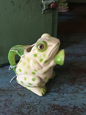 Antique Vintage Frog Watering Can - garden collectable