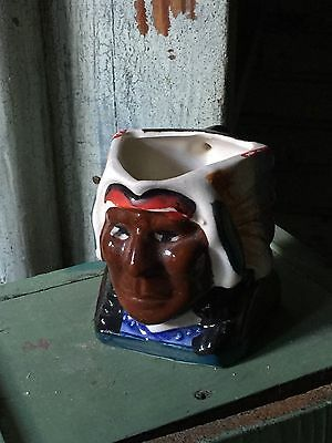 EARLY Primitive ANTIQUE POTTERY  NATIVE AMERICAN TOBY mug - china collectible