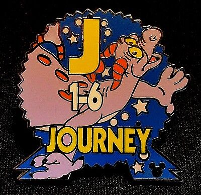 2004 Disney Wdw Cast Lanyard Series #3 Epcot Parking Signs Figment Journey Pin