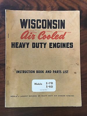 Wisconsin Air Cooled Heavy Duty Engines Instruction Book- Models S-7D & S-8D