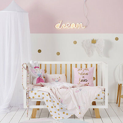 Adairs Kids Bunny Wishes Cot Quilt Cover Set BNIB - $99.95