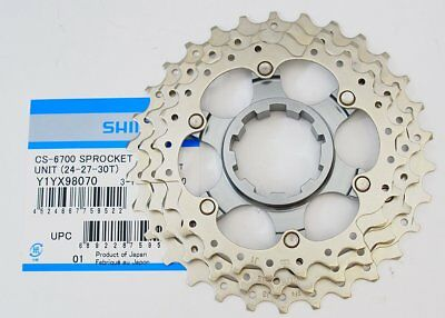 Genuine Shimano Ultegra CS-6700 24-27-30T Cog Unit for 12-30T Cassette