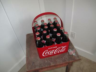 1950's Coca Cola Soda Pop Bottle Metal Stadium Carrier Embossed Sign + Opener