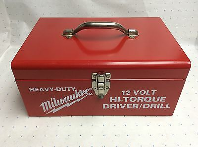 Milwaukee Tool Case (only) for Drill or Driver  All Metal Construction