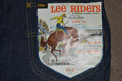 Vtg NWT Lee Riders Authentic Cowboy Pants Jeans Sanforized Western 28x34 101-Z