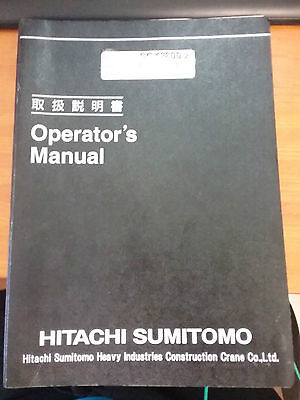 Hitachi Sumitomo Crane SCX2800-2 Operators Manual Book