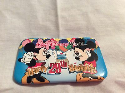 Disney Button Pin 8406 Walt Disney World Happy 29th Anniversary Cast Member