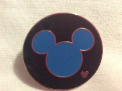 WDW Cast Lanyard Collection 4 Mickey Icon Blue Disney Pin 42006