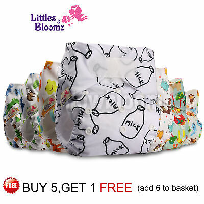 Reusable Baby Nappy Washable Cloth Cover STANDARD Hook-Loop Pocket Diaper