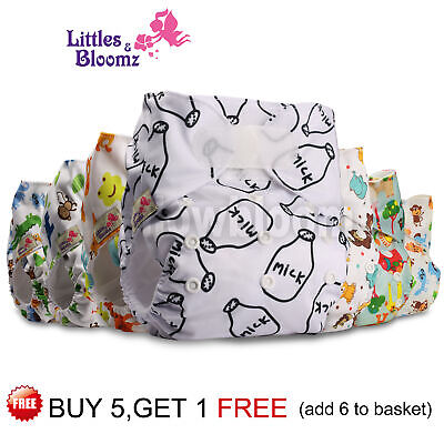 Reusable Baby Nappy Washable Cloth Cover STNADARD Hook-Loop Pocket Diaper