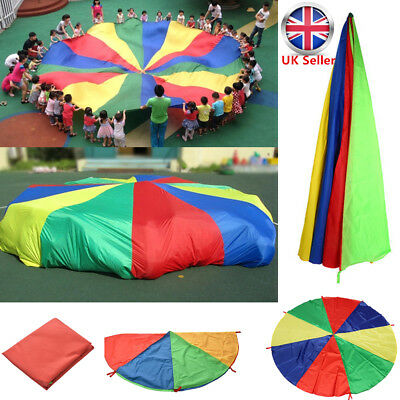 8M Kids Play Parachute Large Children Rainbow Outdoor Game Exercise Sport Toy UK