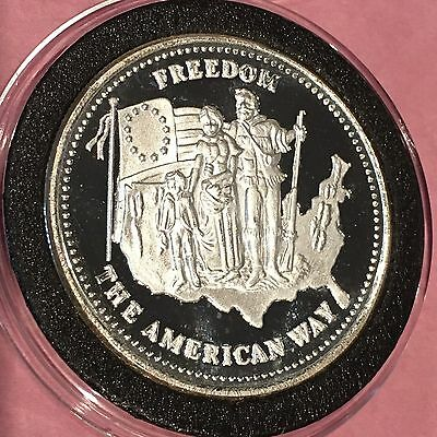 Johnson Matthey Freedom The American Way 1 Troy Oz .999 Fine Silver Round Coin