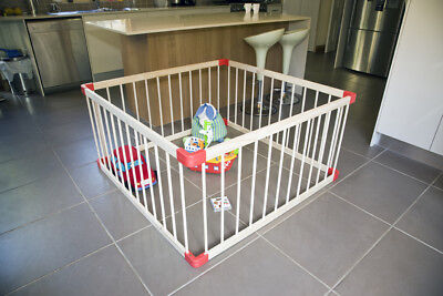 Sunbury large wooden extendable playpen, safety gate for baby, kids, toddlers