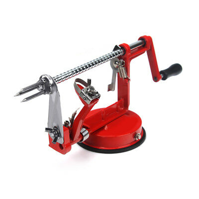 Kitchen Tool Apple Peeler Slinky Machine Fruit Cutter Slicer Corer 3 in 1 Red AU