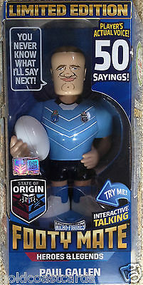 2016 STATE OF ORIGIN FOOTY MATE NSW BLUES - PAUL GALLEN Limited Edition