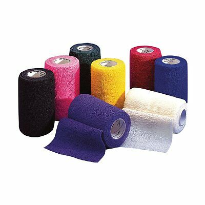 """Vetrap Cohesive Bandage for Horses, 4"""" Wide, Various Colours Available"""
