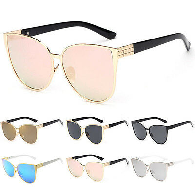 Women Retro Vintage Lenses Designer Sports Drive Cat Eye Oversized Sunglasses