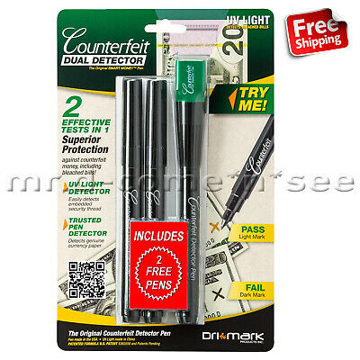 UV Counterfeit Money Detector Pen Test Fake Dollar Currency Checker New