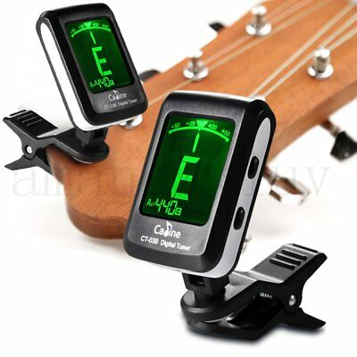 LED Clip-on Electronic Digital Guitar Tuner Chromatic Bass Violin Ukulele CT-03B