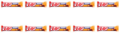 903501 10 x 42g BARS OF NESTLE'S KIT KAT PEANUT CHUNKY CHOCOLATE! PRODUCT OF USA
