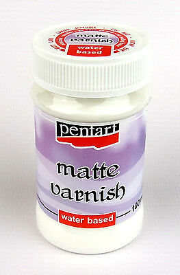 Pentart Matte Varnish, Water Based, finish for decoupage craft 100 ml
