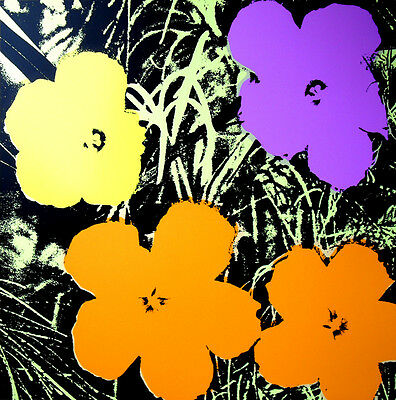 ANDY WARHOL Pop Art - Sunday B Morning - Flowers 11.67 - Screen print + COA